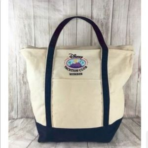 Disney large tote DVC member embroidered canvas